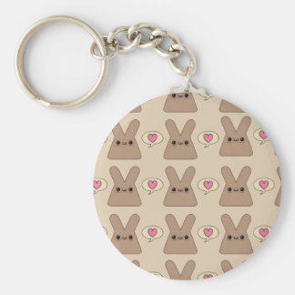 Bunny Love Basic Round Button Key Ring