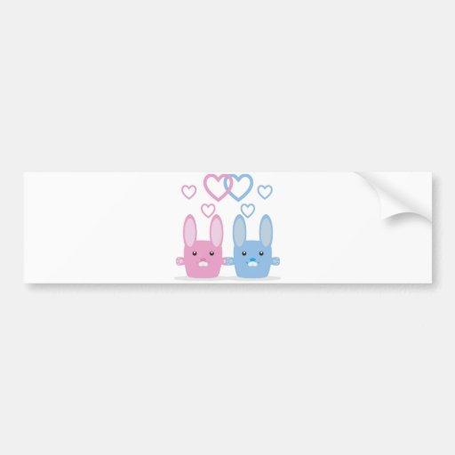 Bunny love bumper stickers