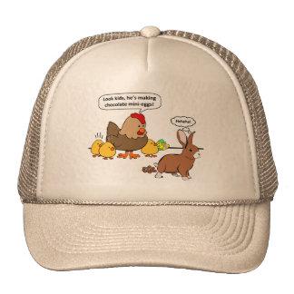 Bunny makes chocolate poop funny cartoon cap
