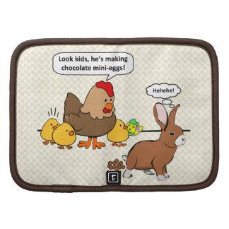 Bunny makes chocolate poop funny cartoon organizer