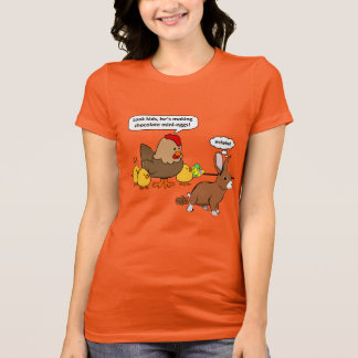 Bunny makes chocolate poop funny cartoon T-Shirt