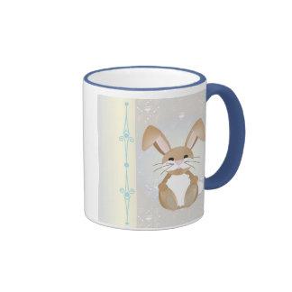 Bunny on Blue Mugs