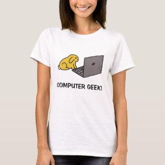 bunny on laptop, COMPUTER GEEK! T-Shirt