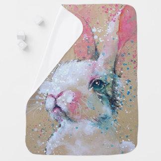 Bunny/Paint Splatters-Baby Blanket