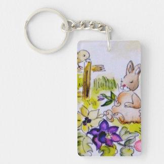 Bunny Patch Keychain
