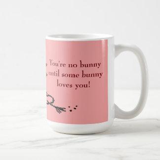Bunny poop heart mug! coffee mug