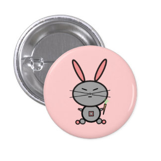 Bunny Rabbit 3 Cm Round Badge