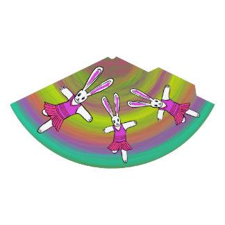 Bunny Rabbit Ballerina dancing on a birthday hat