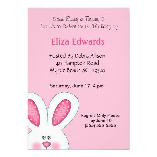 Bunny Rabbit Birthday Invitation