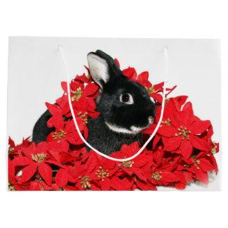 Bunny rabbit Christmas Large Gift Bag