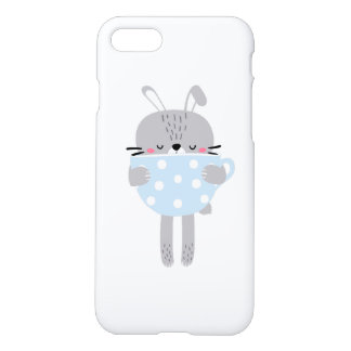 Bunny Rabbit & Cup iPhone 8/7 Case