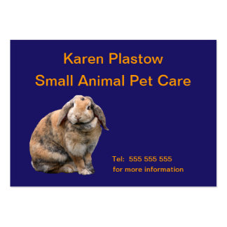 Bunny rabbit customizable business card