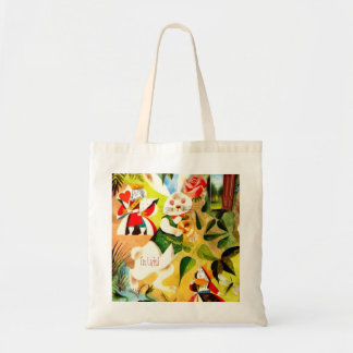 Bunny Rabbit Easter Basket Tote Bag Fill w/Goodies
