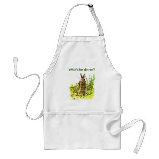 Bunny Rabbit in Grass Whats for Dinner Apron