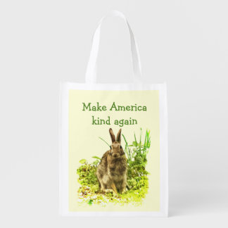 Bunny Rabbit Make America Kind Again Reusable Bag