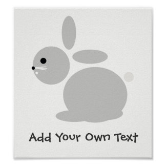 Bunny Rabbit Nursery Children's Room Custom Poster