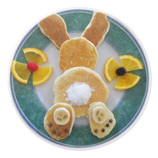 Bunny Rabbit Pancake Breakfast Drawer Pull Knob