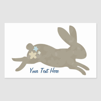 Bunny Rabbit (personalized) Rectangle Stickers