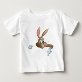 Bunny Rabbit Pointing Down Baby T-Shirt