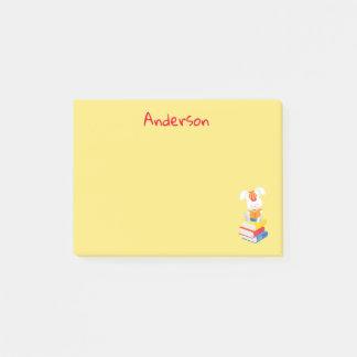 Bunny Rabbit Reading Books Post-it Notes