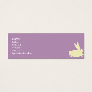 Bunny Rabbit - Skinny Mini Business Card