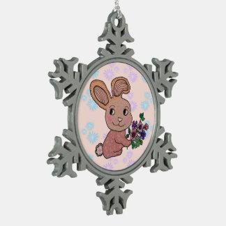 Bunny Rabbit Smile Ornament