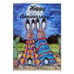 "Bunny Rabbit/""Snuggle Bunnies"" Anniversary Card"