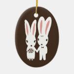 Bunny Rabbits Bride and Groom Wedding Keepsake