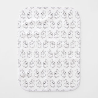 Bunny rabbits cute tatty hopping mad burp cloth