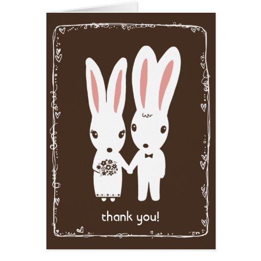 Bunny Rabbits Wedding Thank You Cards