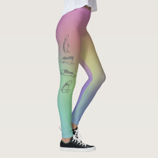 Bunny Rainbow Yoga Pants