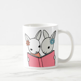 Bunny Reading Book Mug Librarian Teacher Gift Mug