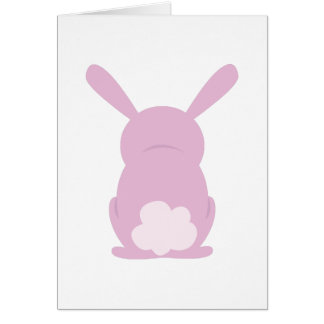 Bunny Rear Greeting Card