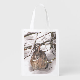 Bunny Seeking Shelter Reusable Grocery Bag