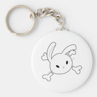 bunny skull keychain