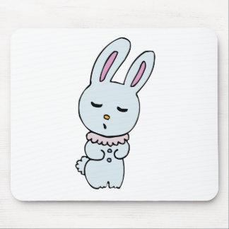 Bunny Soft Blue Coloured Mousepad