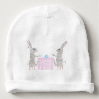 Bunny Tea Party Baby Beanie