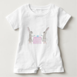 Bunny Tea Party Baby Bodysuit