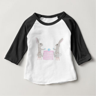 Bunny Tea Party Baby T-Shirt