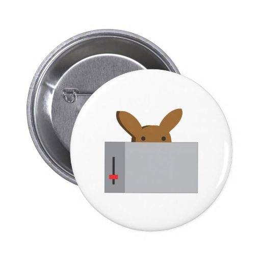bunny toaster pinback buttons