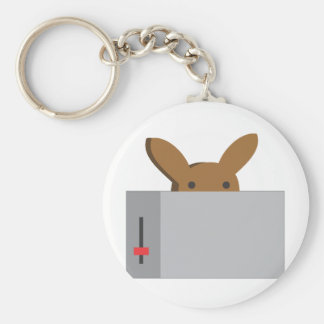 bunny toaster basic round button key ring