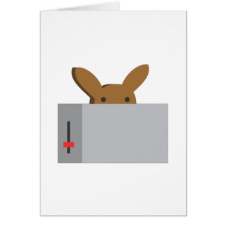 bunny toaster greeting card