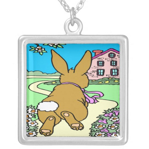Bunny Trail Easter Necklace