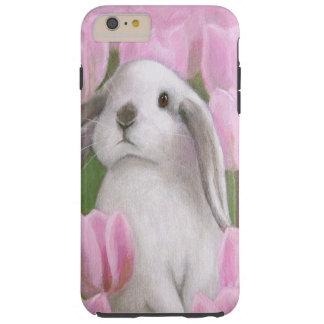 Bunny & Tulips Tough iPhone 6 Plus Case