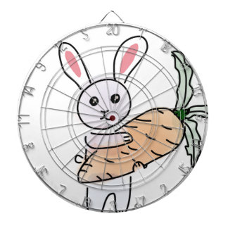 Bunny with a Carrot Dartboard