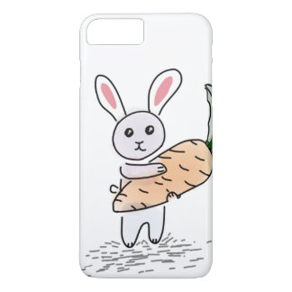 Bunny with a Carrot iPhone 8 Plus/7 Plus Case