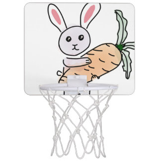 Bunny with a Carrot Mini Basketball Hoop
