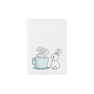 Bunny with a Cup of Tea Passport Holder