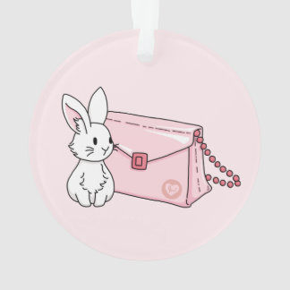 Bunny with a pink purse