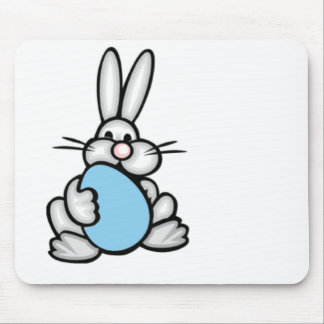 Bunny with Baby Blue Egg Mouse Pads